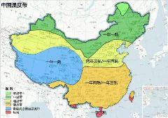 我国主要农作物产地分布图