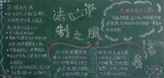 小学生法制教育黑板报