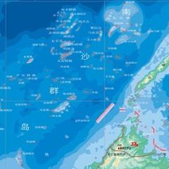中国南沙群岛地图