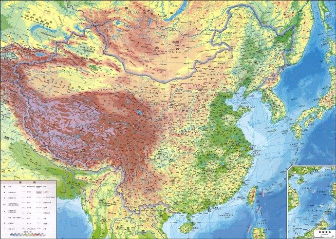 中国地形图高清版大图