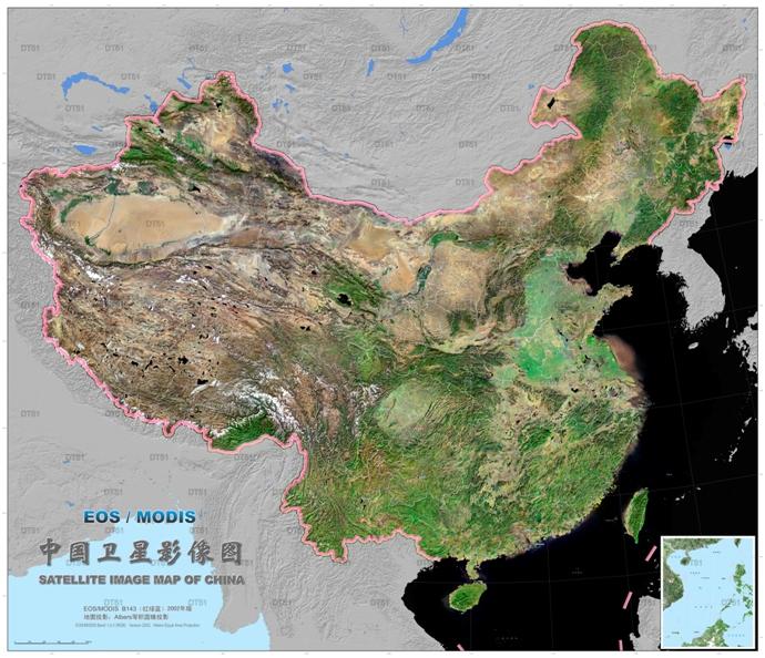 高清中国卫星图(地形图)