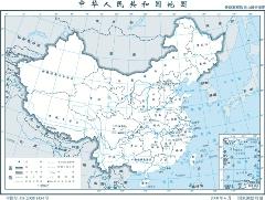 1:3000万中国地图最新高程数据山