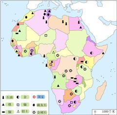 非洲国家矿产资源分布图