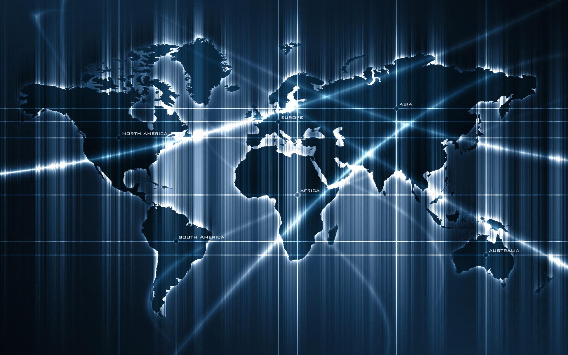 世界地图电脑桌面