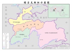 塔吉克斯坦政区图,塔吉克斯坦示意图